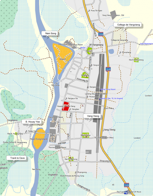 Vang Vieng city map