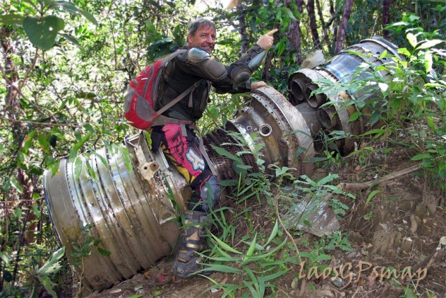 Ho Chi Minh trail jet engine crash