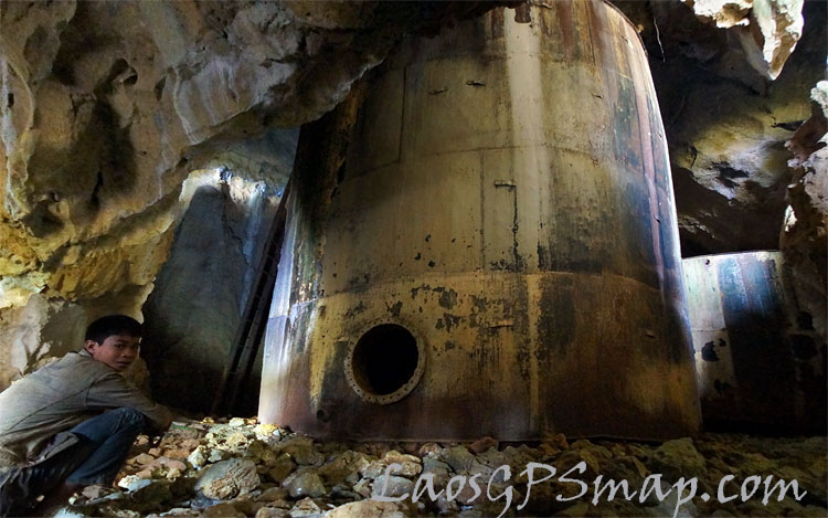 Ho-chi-Minh-trail-Fuel bunker in a cave