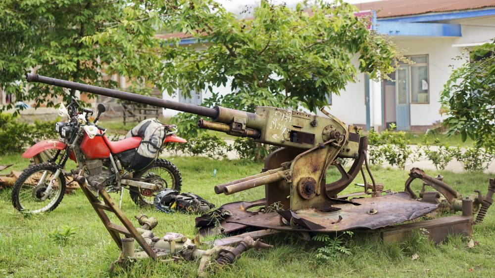 Ho Chi Minh trail Anti Aircraft guns