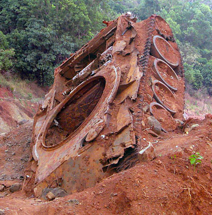 Ho Chi Minh Trail chinese built -tank