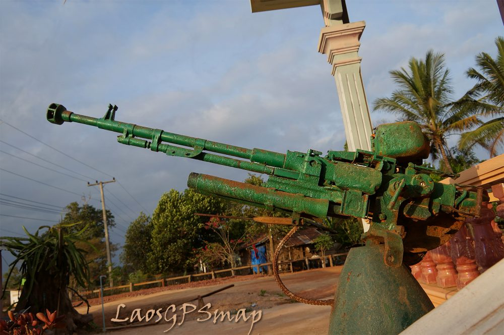 Anti Aircraft Gun Near Ban Nongvilay Ho Chi Minh trail Southern Laos