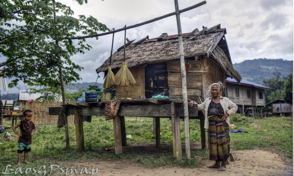 Ta Oy villager along the Ho Chi Minh Trail, Muang Nong