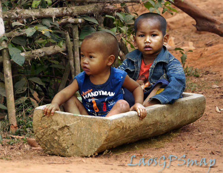 Ho Chi Minh Trail Kids in trough