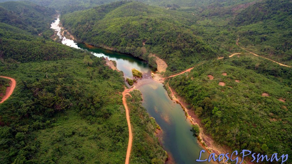 Ho Chi Minh Trail Ban Laboy Ford by Drone