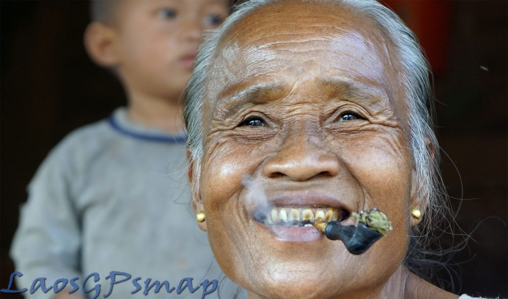 Tribal Elder along the Ho Chi Minh trail near an important cave containing fuel storage bunkers
