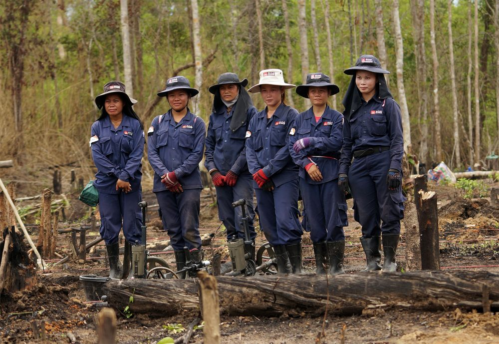 Mag International womens demining team, Southern Laos