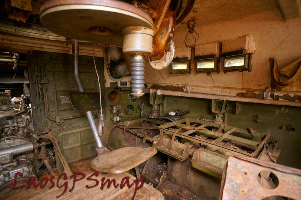 inside turret wheeled tank