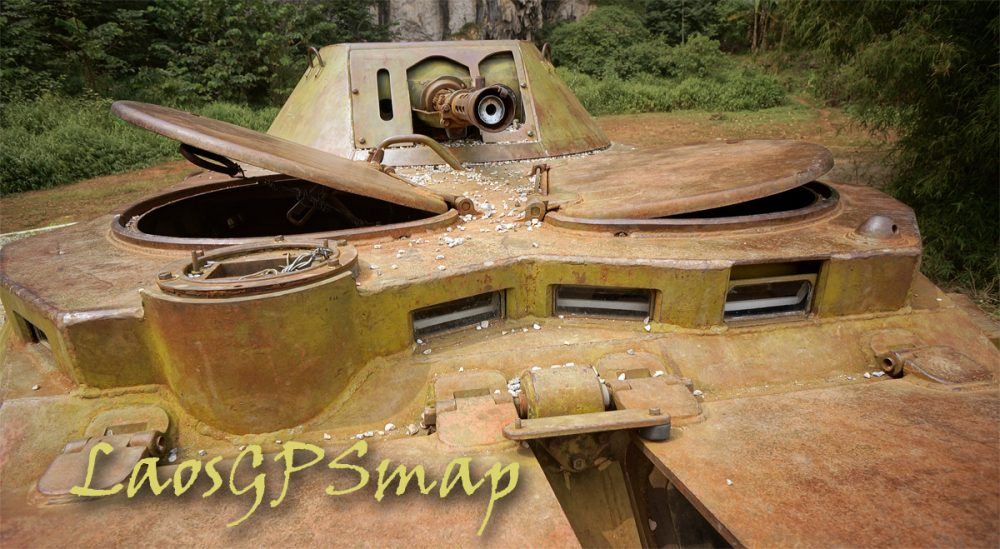 Secret war relic wheeled tank
