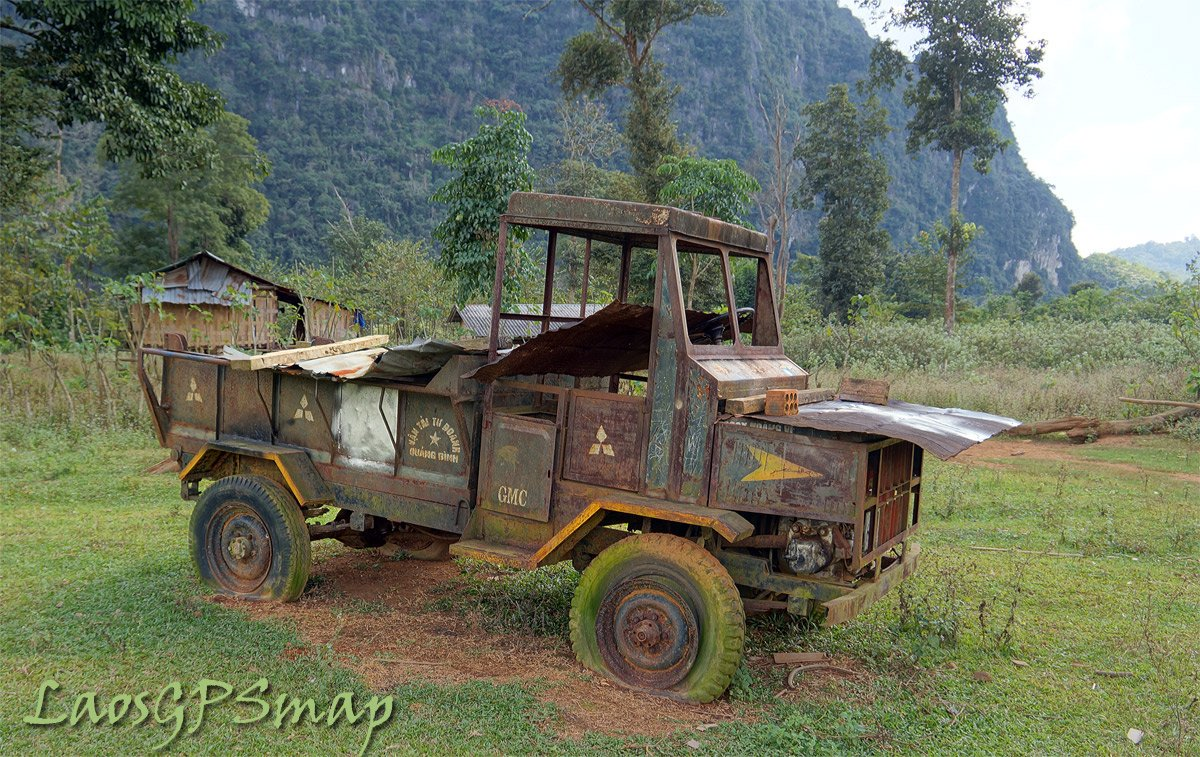 Vietnamese truck leftover from the War days Ho Chi Minh trail