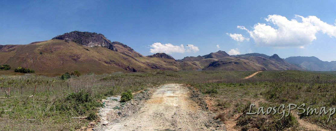 incredable Pou Chi valley at 2850 meters is now a paved 13 meter wide road