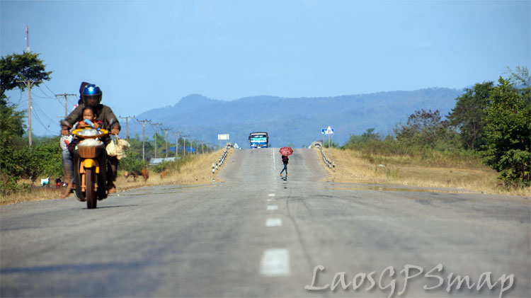 Motorcycle Laos National Road-12