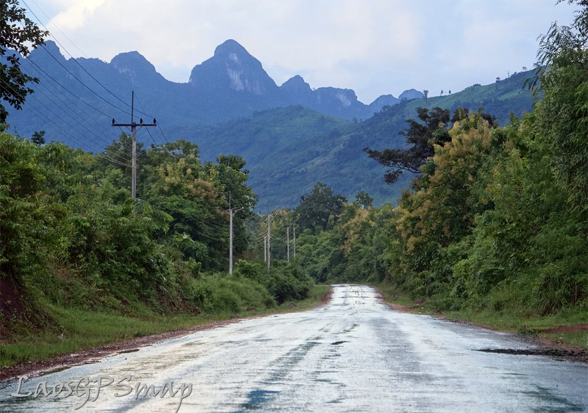 karst scnenery slick roads