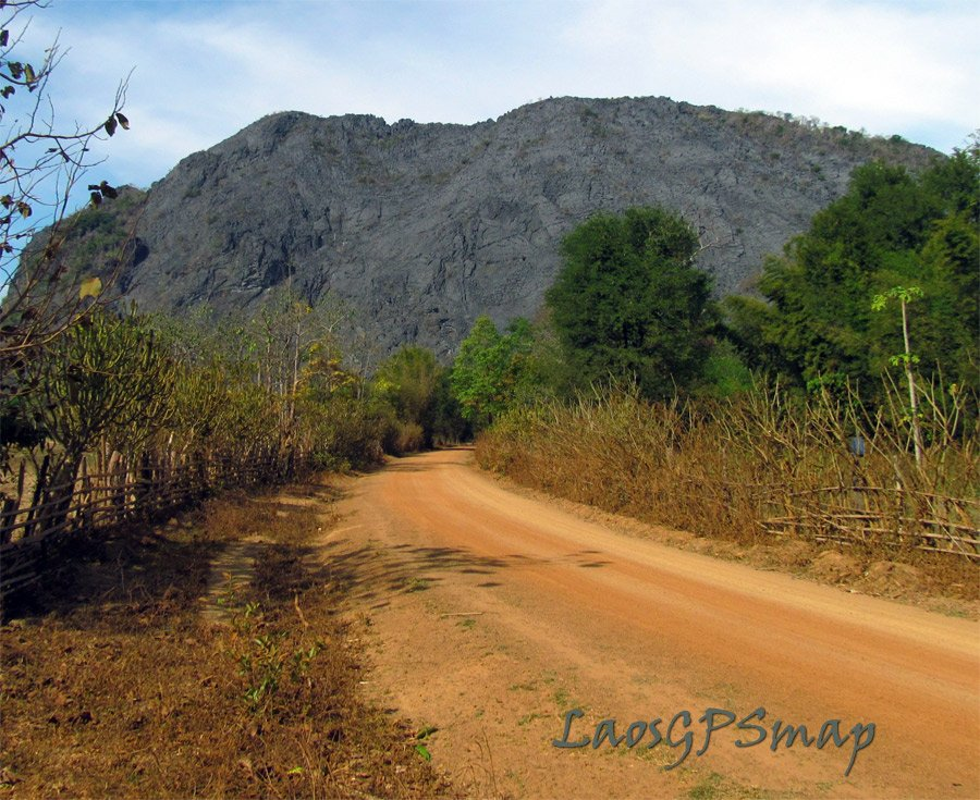 Central laos near Xiabouathong District laterite roads and karst