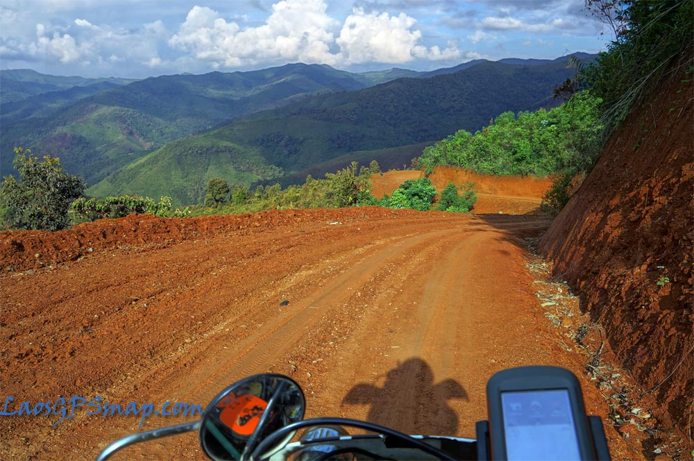 Motorcycle Laos Povincial Road 2504