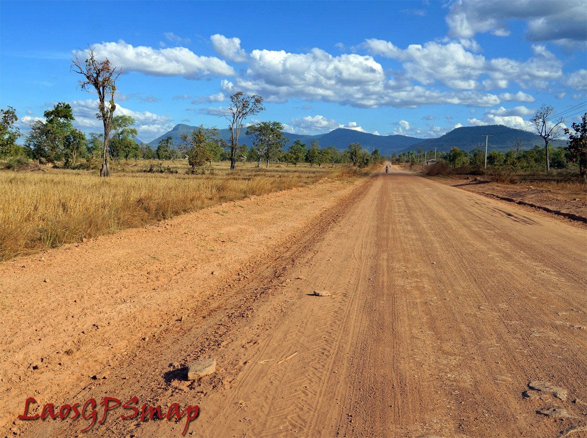 Central Laos Mountain and Road
