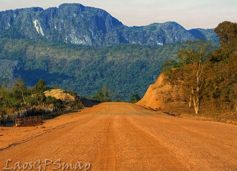 Motorcycle-Roads-Laos red road Karst formations