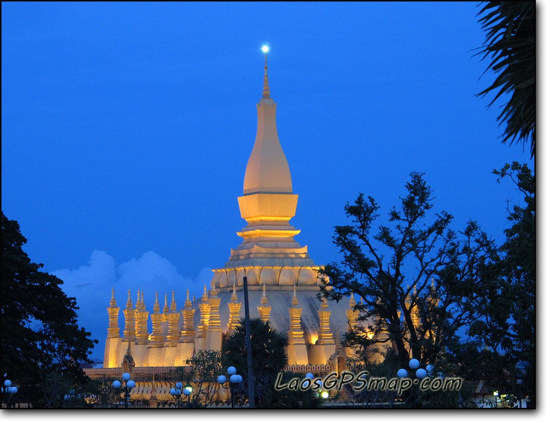 Landmark That Luang Stupa Vientiane Capital
