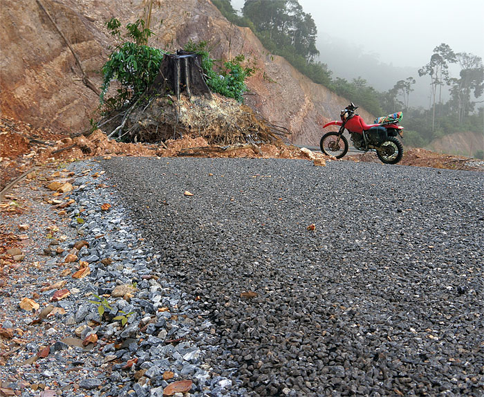 Motorcycle laos National Road 1-D