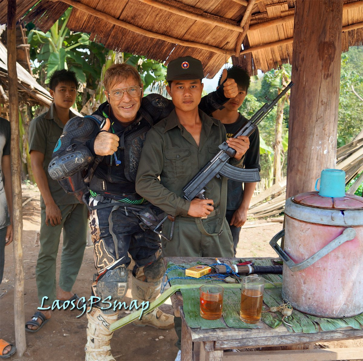 Army Checkpoint and Cha Hawn