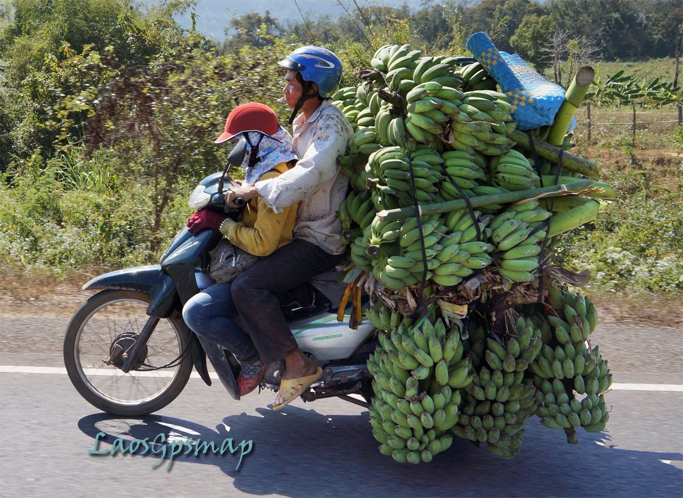 Banana seller Lao Bao on Road 9