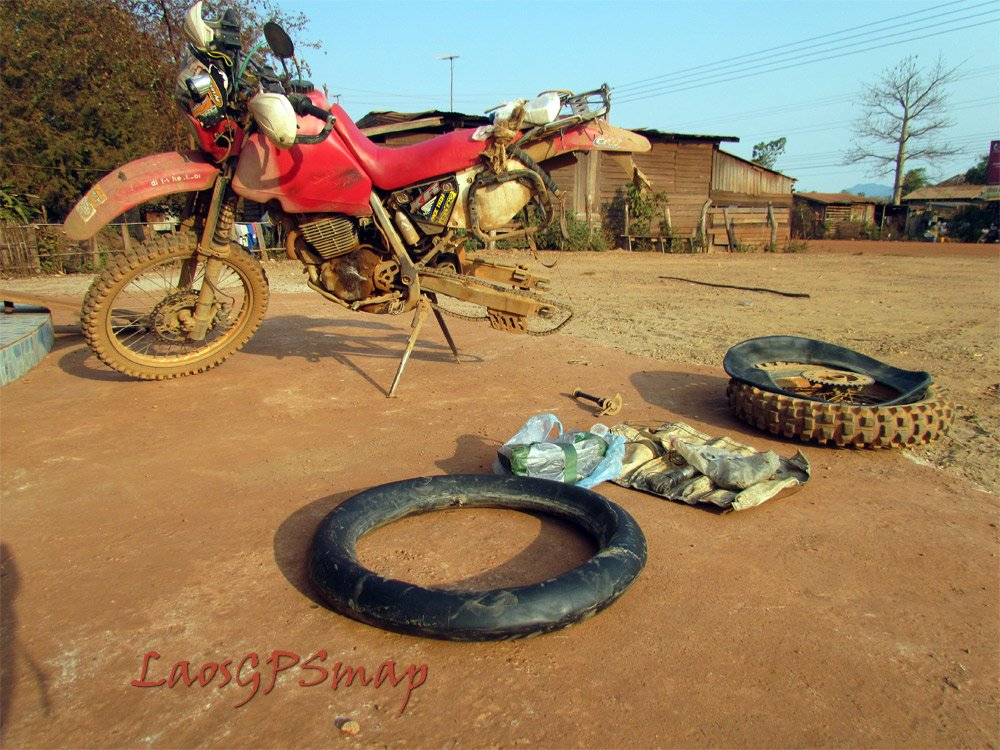 good morning Xaibouathong nothing like changing a flat before breakfast