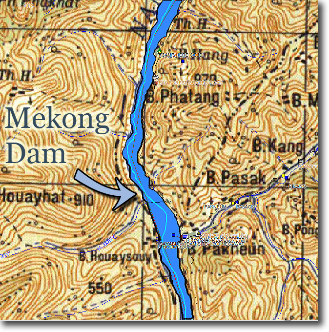 Mekong-dam-location