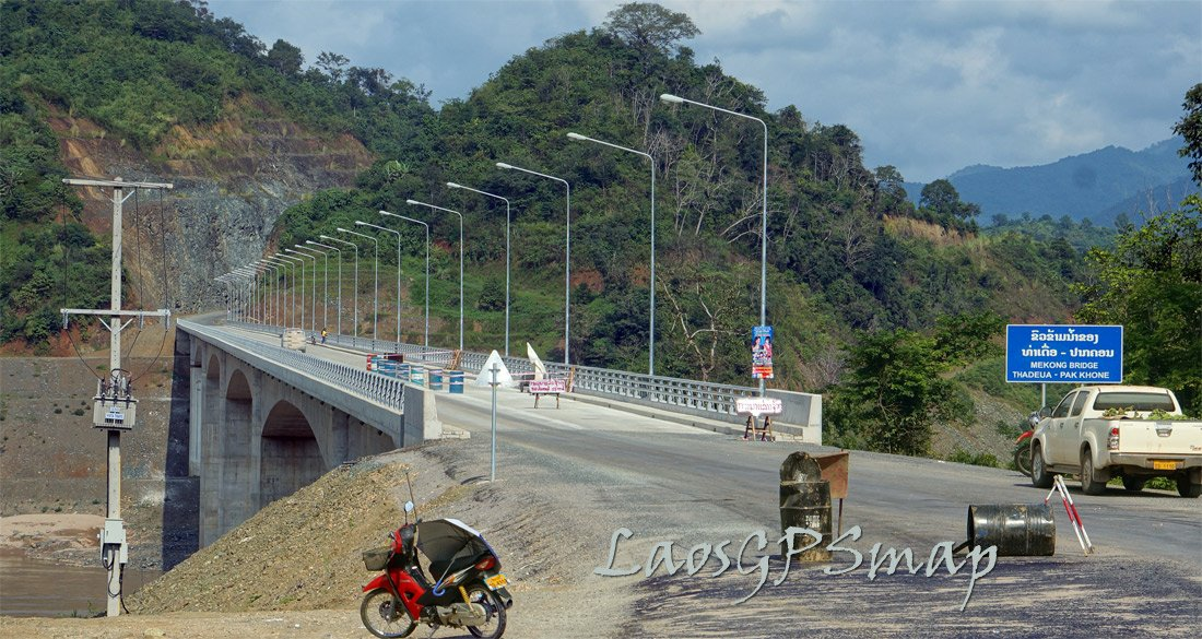 Just completed and opened Mekong bridge at Thadua