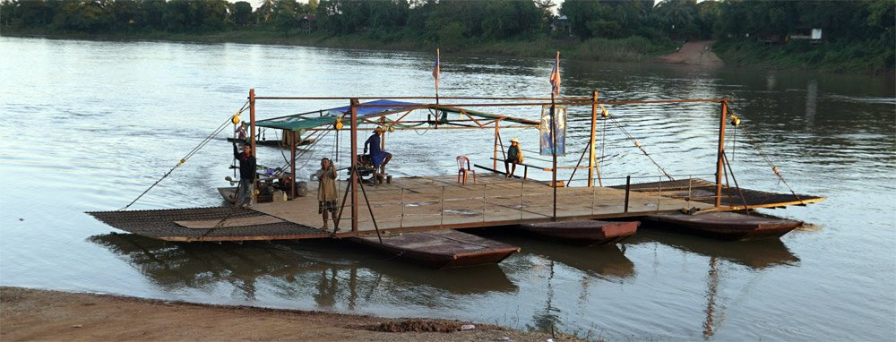 Car ferry Nam Ngum river Laos