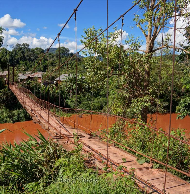 Nam Phak suspension bridge