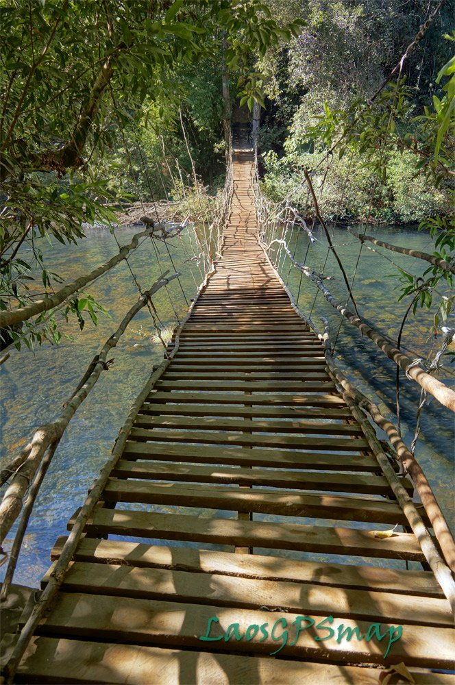 Houay Tok Lok suspension bridge in the Xepian protected area