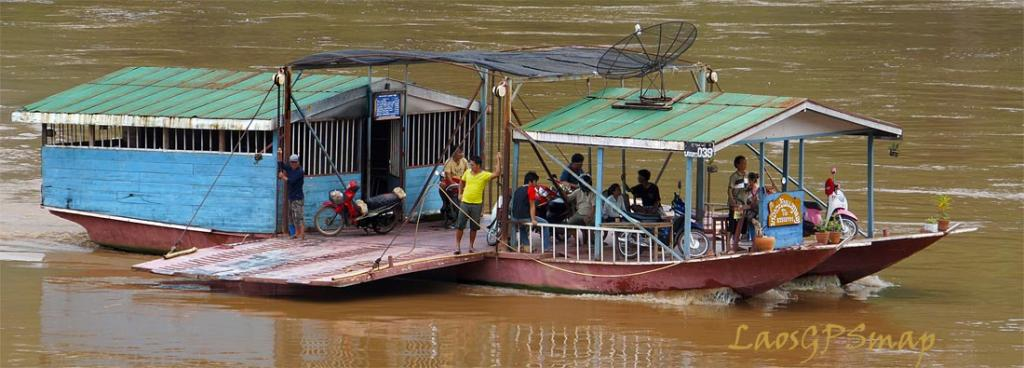 Mekong ferry at Louangprabang Laos