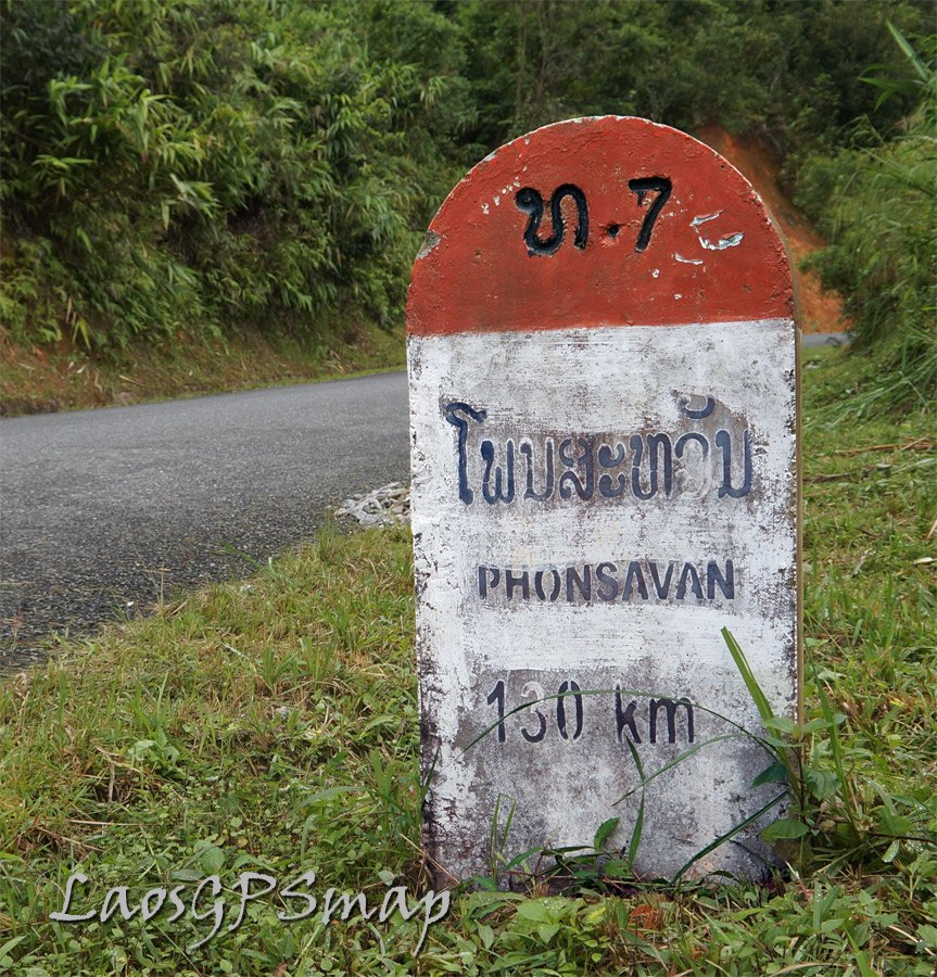 Phonsavan along winding and wonderful road 7 interesting villages and great views along this route