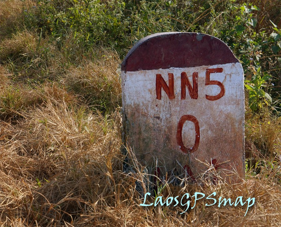 Nam Ngum 5 Damsite Access Road Marker