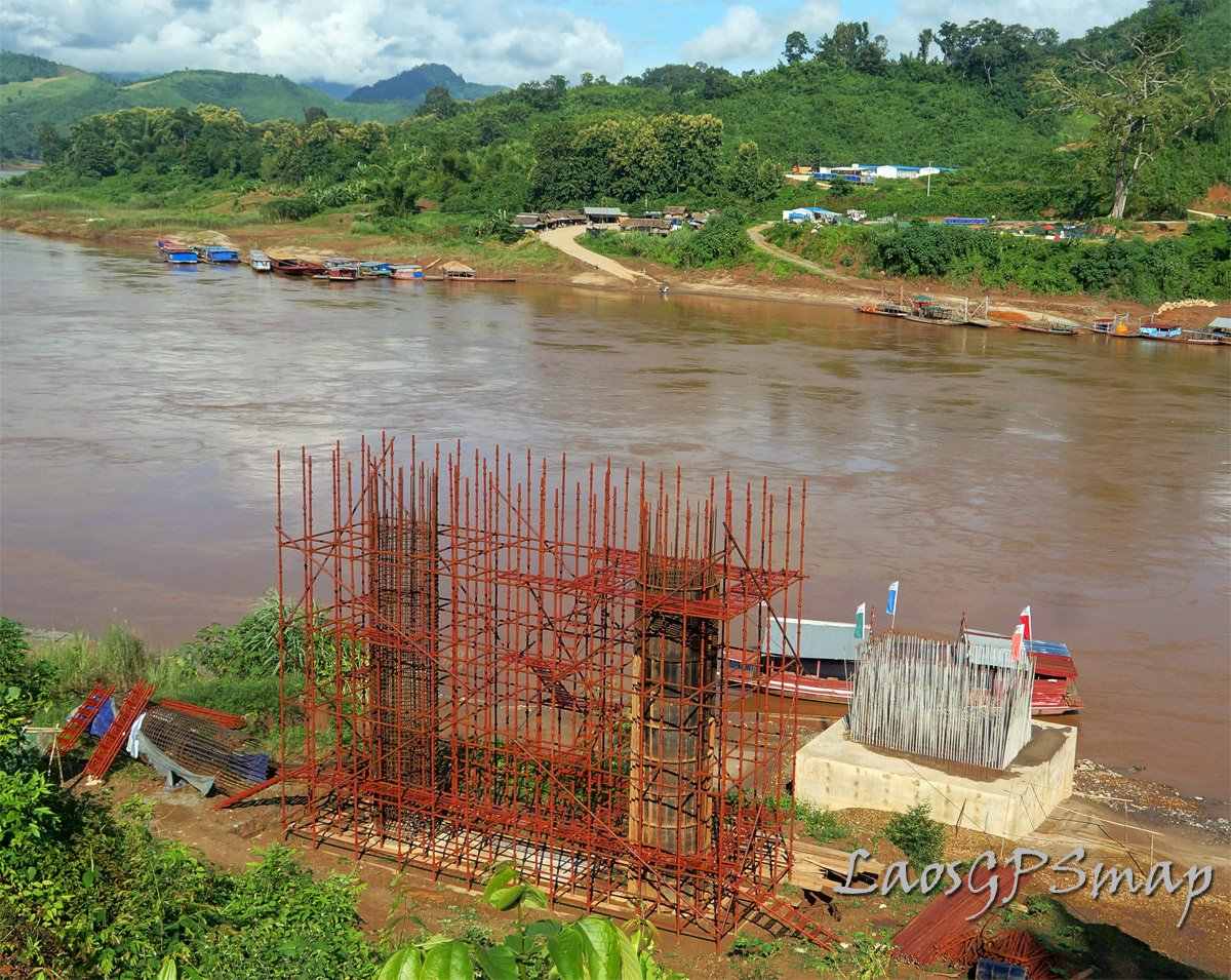 Pakbeng Mekong bridge structure
