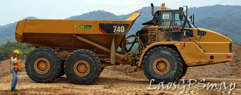 Phou Kham mine articulated dump truck
