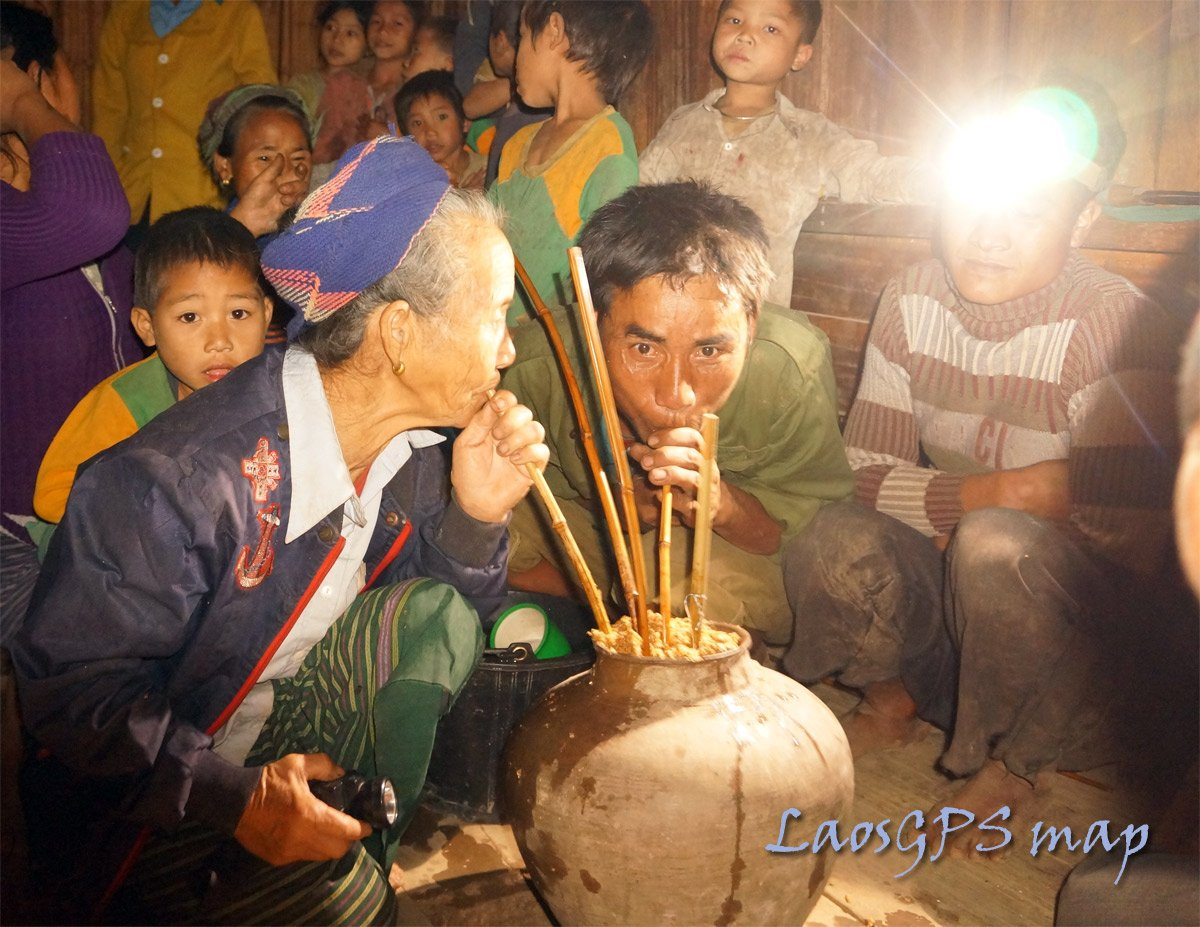 Lao Hai ceremony in a remote village Houaphan Province