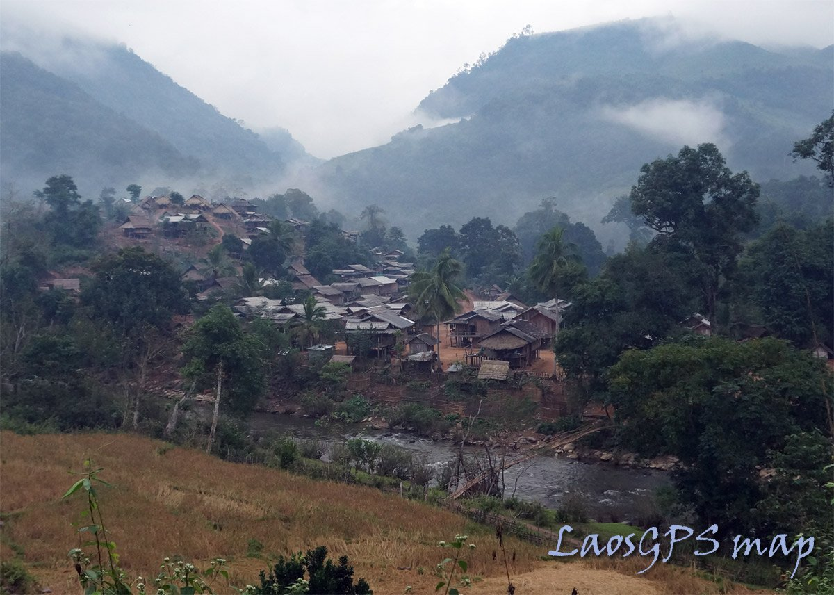 Remote village Houaphan