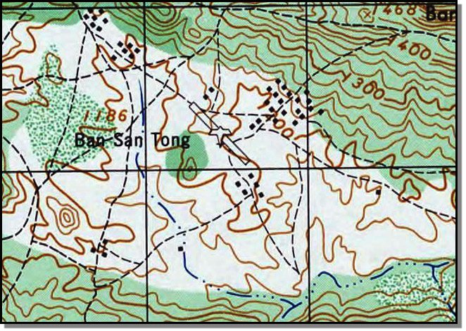 Miltary Map of Sam Thong valley and LS 20