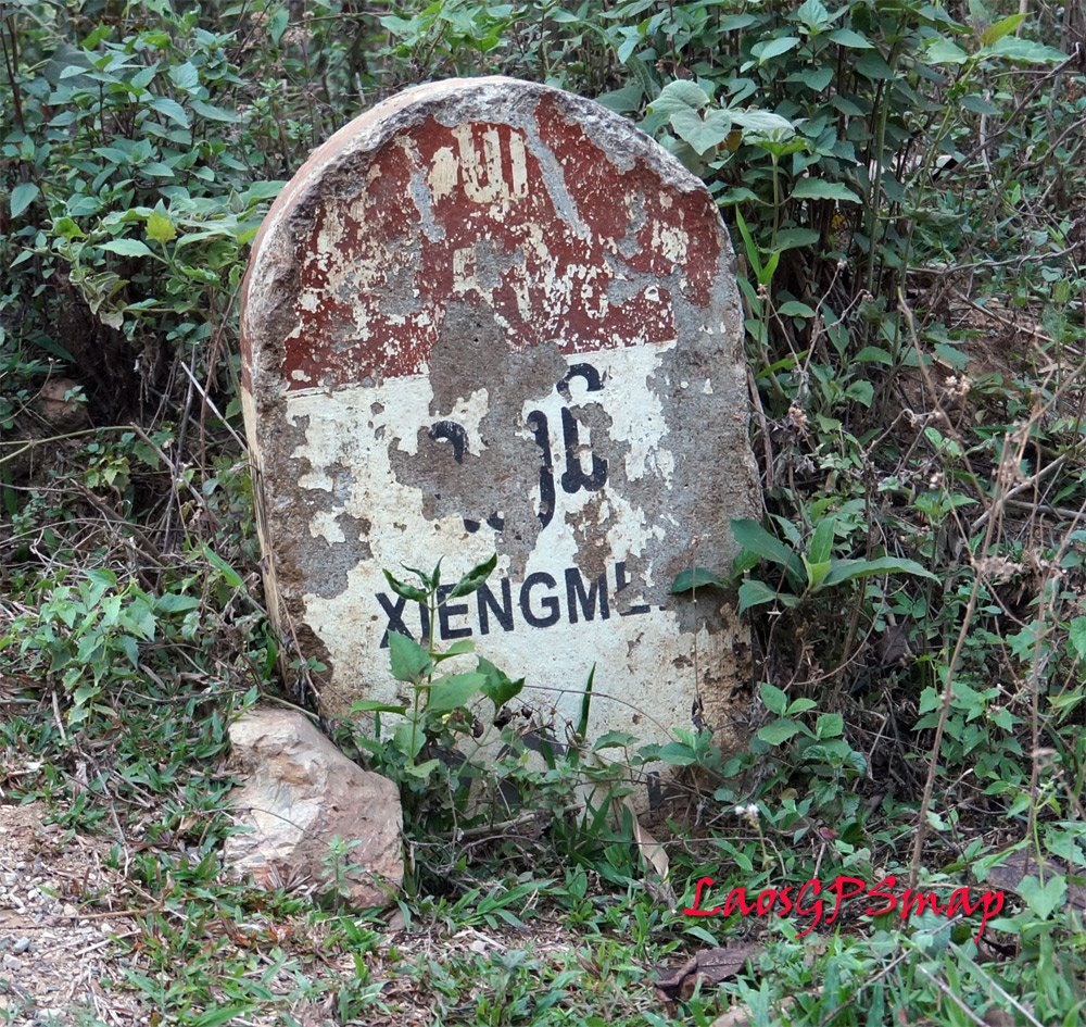 Road Marker on the way to the Secret War road