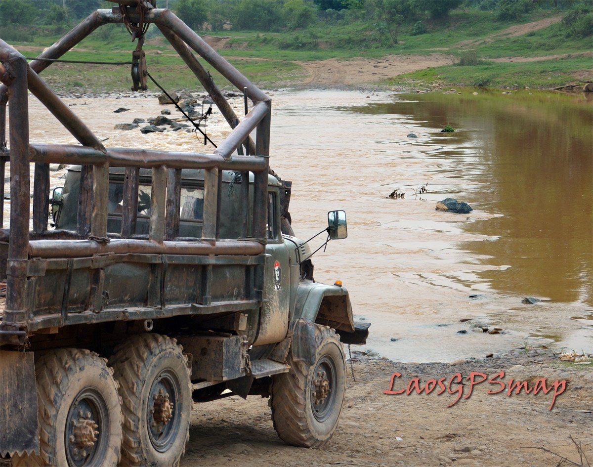 Russian Kamaz River ford