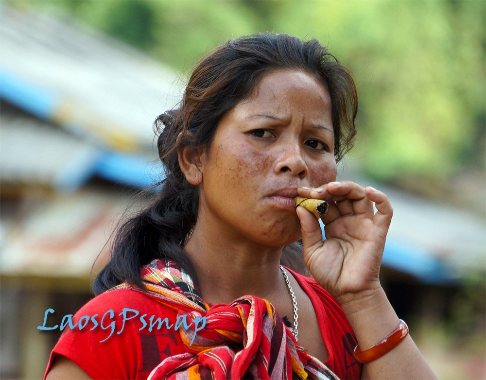 Teriang Ethnic villager Ban Laboy Southern Laos