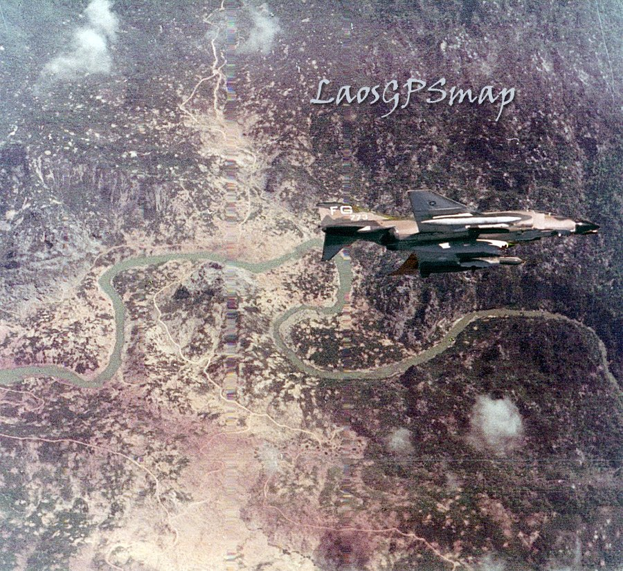 F-4- D Over the Dogs Head, Ban Laboy Ford. Ho Chi Minh Trail