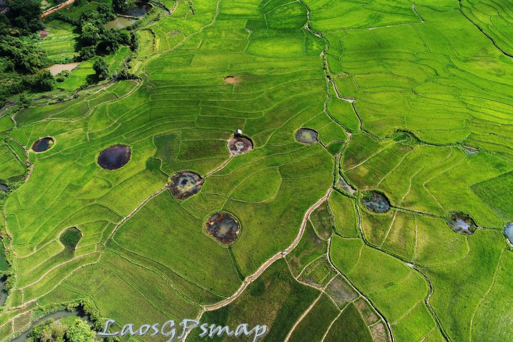 Ho Chi Minh trail Bomb craters