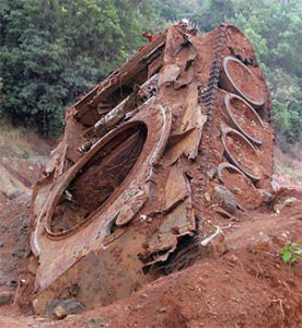 Chinese built tank on the Ho Chi Minh trail